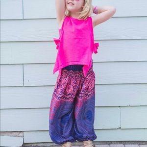 Purple and pink girls Harem Pants size 4-5